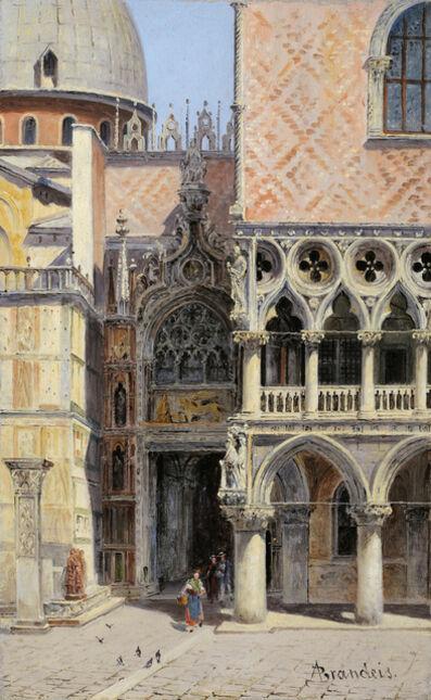 Antonietta Brandeis, 'Palazzo Ducale, La Porta della Carta', 1890