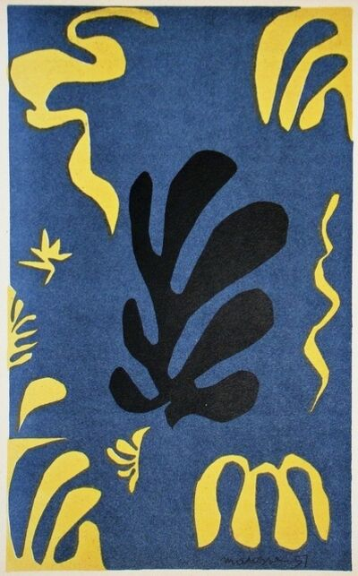 Henri Matisse, 'Composition on blue background', 1954