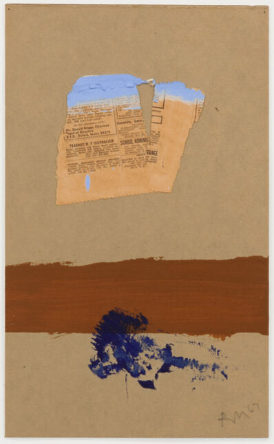 Robert Motherwell, 'The Brown Stripe', 1967