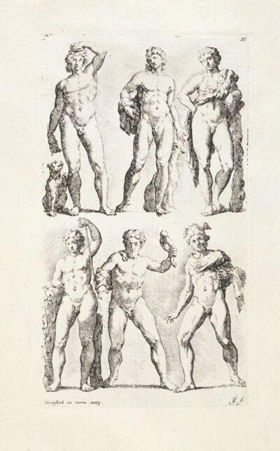 Maerten van Heemskerck, '[Six male statues]', 1731-1741