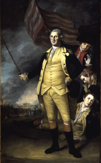 Charles Willson Peale, 'George Washington at the Battle of Princeton', 1783-1784