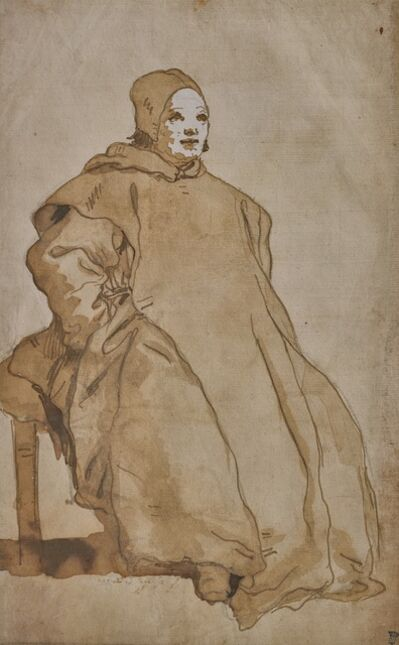 Giovanni Domenico Tiepolo, 'A Cleric, Probably a Benedictine Monk', 1751-1754