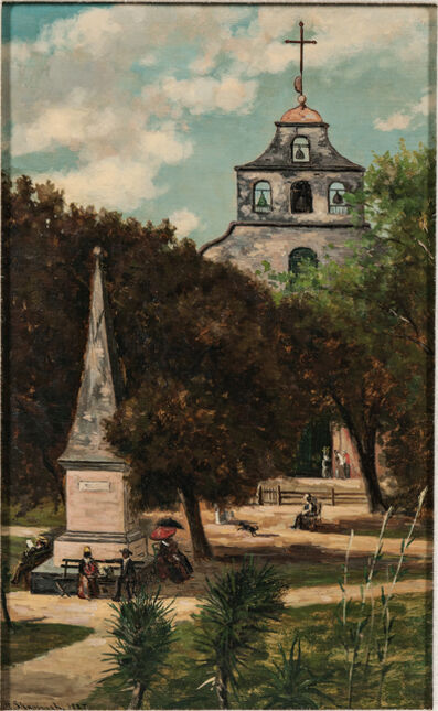 Frank Henry Shapleigh, 'Cathedral and Spanish Monument, St. Augustine'