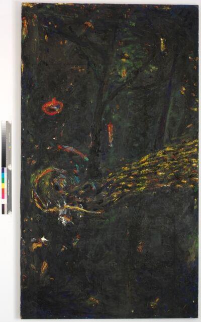 Gunter Damisch, 'Im Dunkeln unter Bäumen', 1987