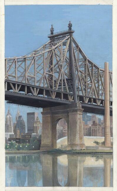 Richard Haas, 'Queensborough Bridge with View of Manhattan below Roadway.', 1998
