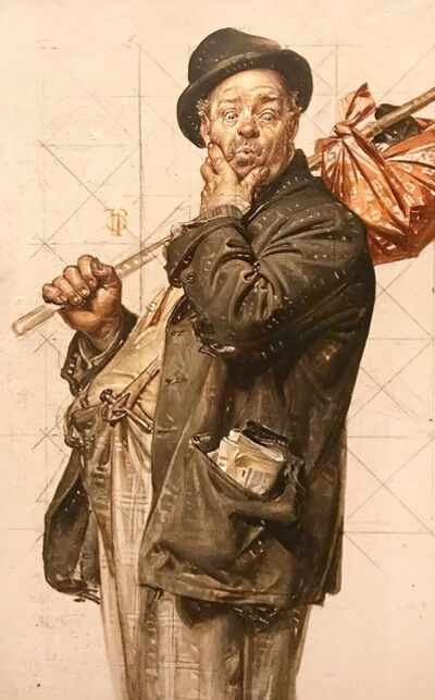 Joseph Christian Leyendecker, 'Study for 'Who, Me Work?' Saturday Evening Post Cover', 1926