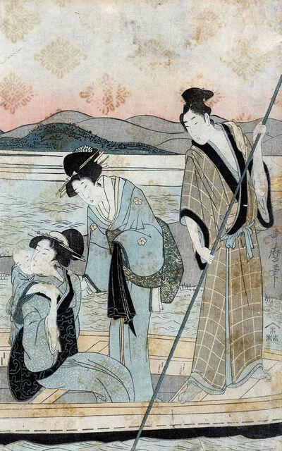 Kitagawa Utamaro, 'Ichi Fuji Ni Taka San Nasubi : Right Panel of Triptych', 1780-1800