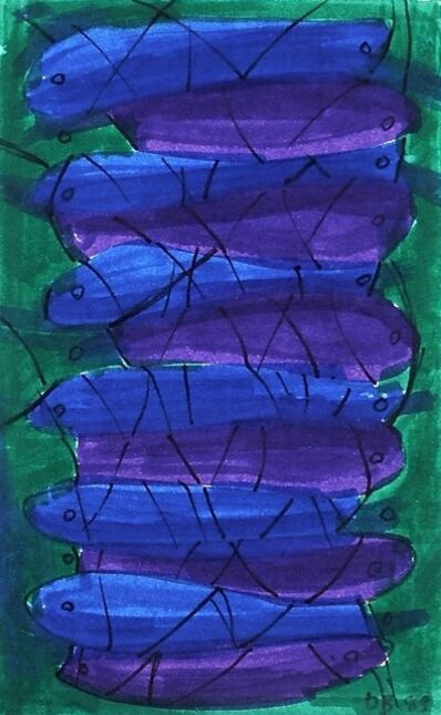 Dusti Bongé, 'Untitled (Blue and Purple Fish)', 1983