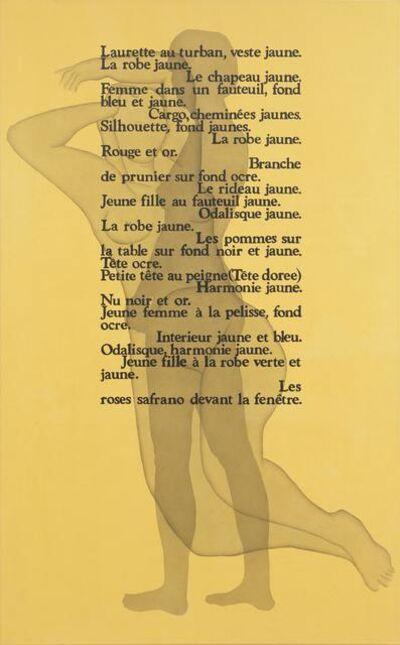 Rune Mields, 'Colour et femmes: Jeunes filles sur fond jaune (Matisse)', 1989
