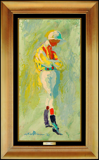 LeRoy Neiman, 'LeRoy Neiman Original Oil Painting on Board Signed Horse Racing Jockey Artwork', 1963