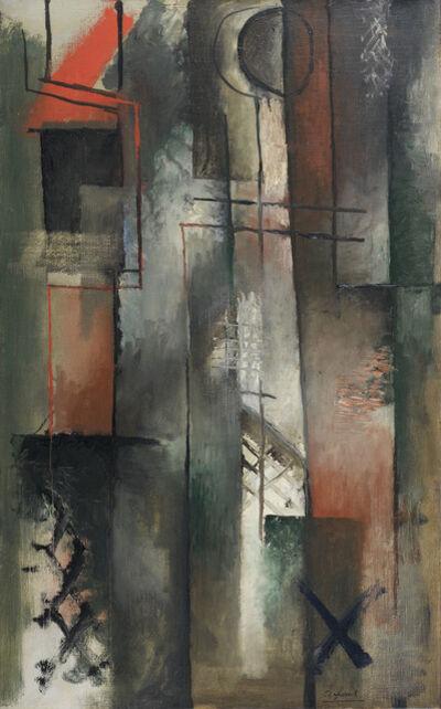 Youla CHAPOVAL, 'Composition rouge et noire', 1948