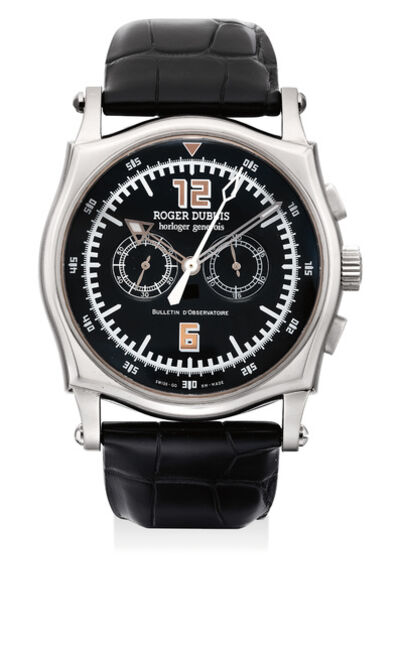 Roger Dubuis, 'An attractive and rare white gold limited edition chronograph wristwatch, numbered 1 of a limited edition of 28 pieces', Circa 2005