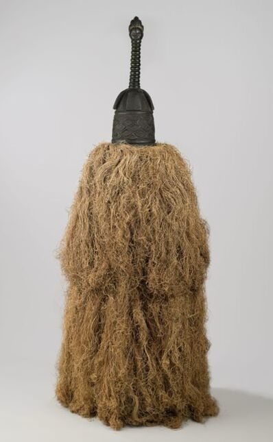 Unidentified Gola Artist, 'Helmet Mask (Gbetu) with Raffia Costume', Early to mid-20th century