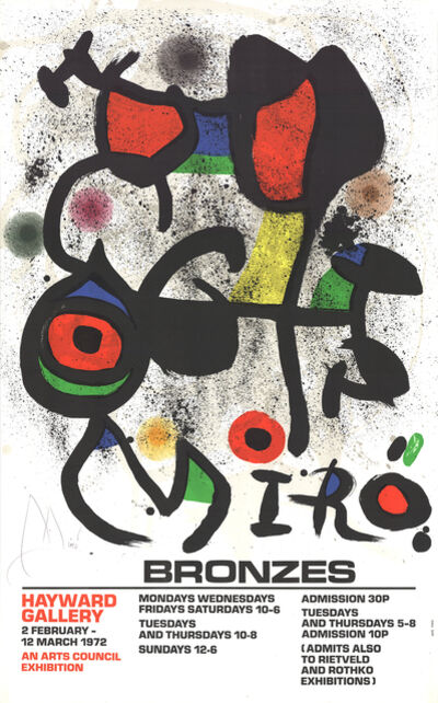 Joan Miró, 'Bronzes', 1972