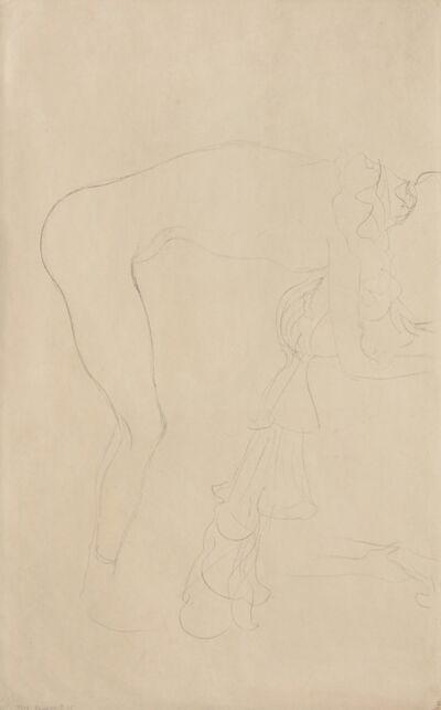 Gustav Klimt, 'Standing Nude Leaning Forwards', 1904