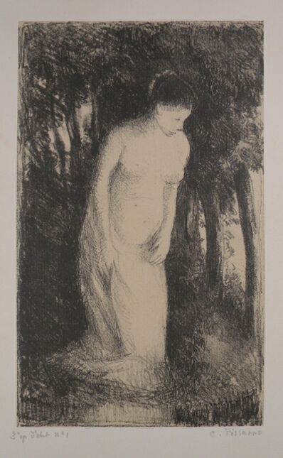 Camille Pissarro, 'Baigneuse près d'un bois [Woman bathing near a wood]', ca. 1896