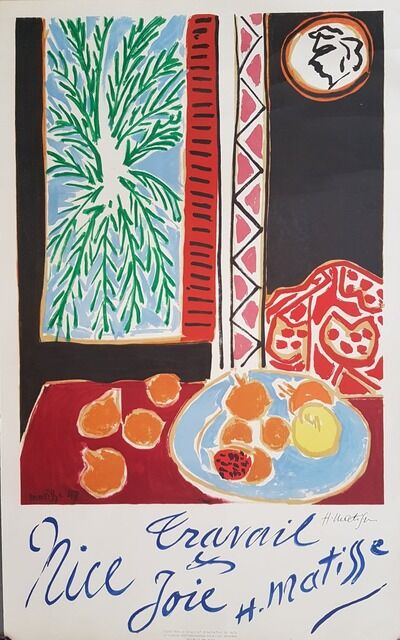 Henri Matisse, 'Nice - Travail et Joie - Hand signed', 1947