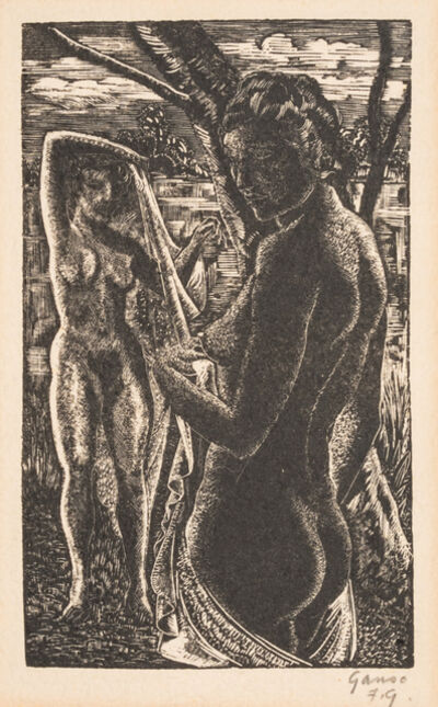 Emil Ganso, 'A Group of Three Works: Sisters, Female Nude Before a Mirror, and The Bathers'