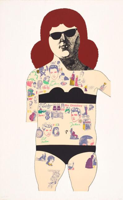 Peter Blake, 'Tattooed Lady', 1985