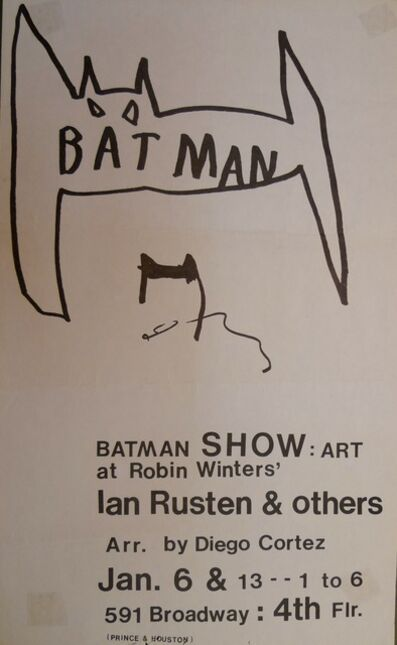 Jean-Michel Basquiat, 'The Batman Show', 1979