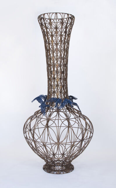 Kim Cridler, 'Bottle with Blue Birds', 2014