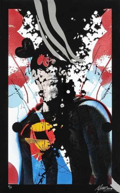 Miss Bugs, 'The Faceless Art Three (Superman, Wonder Woman & Captain America)', 2009