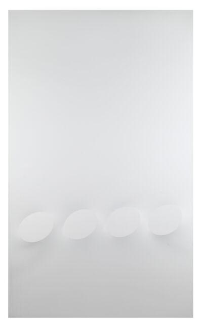 Turi Simeti, '4 ovali bianchi', 2018