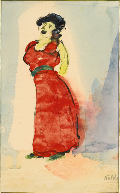 Emil Nolde, 'Cabaret Sängerin (Cabaret Singer)', 1910-1911
