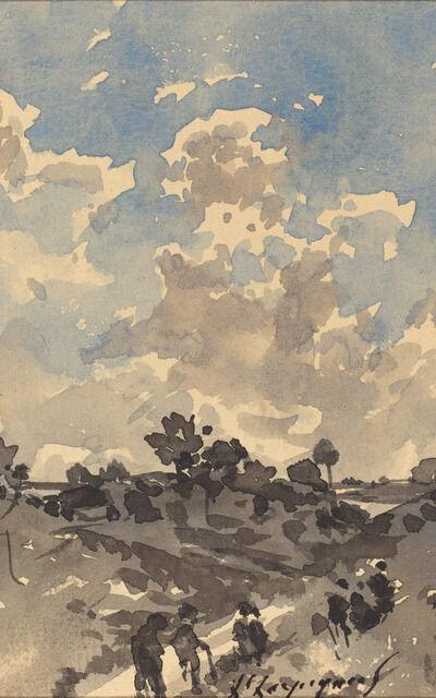 Henri-Joseph Harpignies, 'A Landscape'