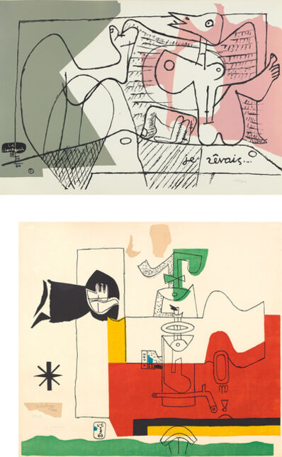Le Corbusier, 'Je rêvais (I Dreamed), from Cortège (Procession); and Totem', 1960-63