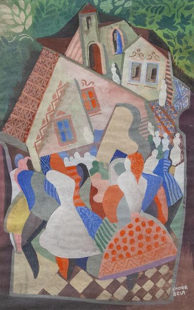 Béla Kádár, 'Auf dem Dorfplatz'