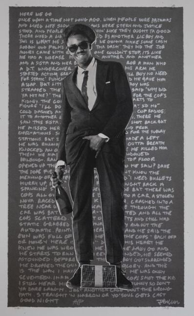 Janette Beckman, 'Slick Rick (graphite background)', 2017