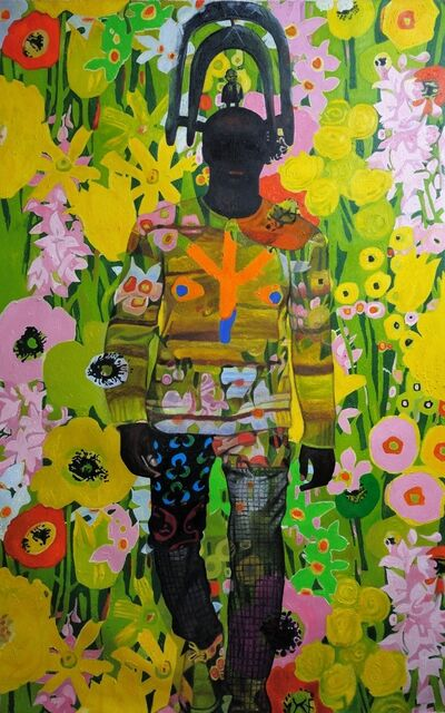 Wole Lagunju, 'Flower Power Mask ', 2017