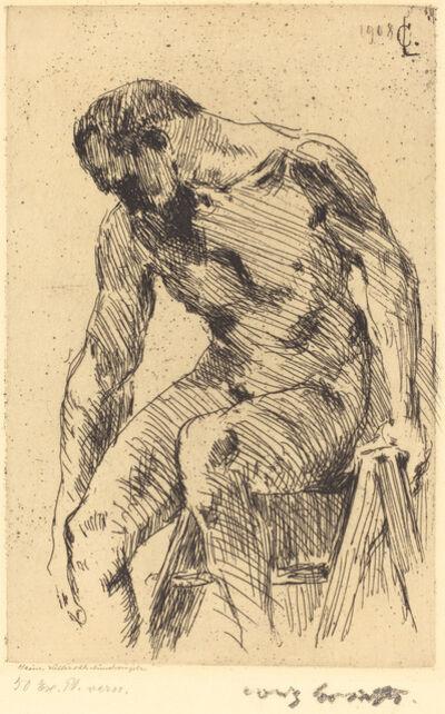 Lovis Corinth, 'Seated Male Nude (Sitzender Männlicher Akt)', 1908