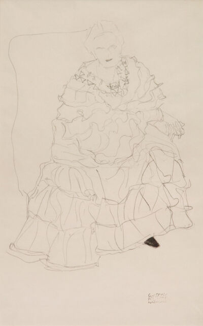 Gustav Klimt, 'Study for an Unrealised Portrait of Magda Mautner-Markhof', 1904-1905