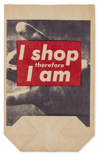 Barbara Kruger, 'I Shop Therefore I Am', 1990