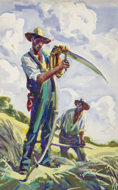 Frank Wilcox, 'Sharpening the Scythe', ca. 1916