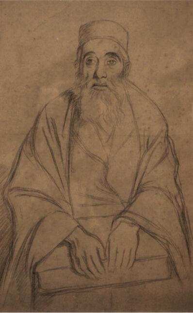 William Rothenstein, 'Seated Rabbi', 1905-1906