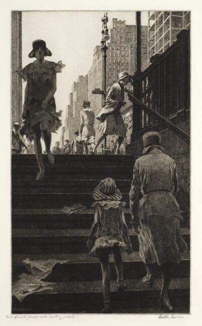 Martin Lewis, 'Subway Steps', 1930