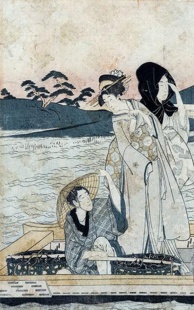 Kitagawa Utamaro, 'Ichi Fuji Ni Taka San Nasubi : Left Panel of Triptych', 1780-1800