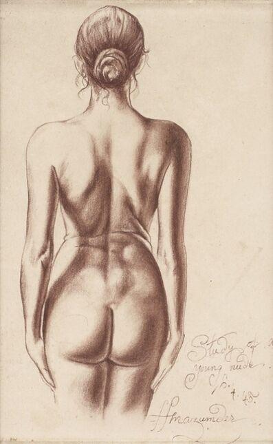 Hemen Majumdar, 'Study of a Young Nude', 1945