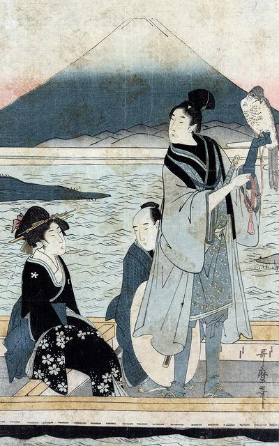 Kitagawa Utamaro, 'Ichi Fuji Ni Taka San Nasubi : Centre Panel of Triptych', 1780-1800