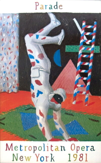 David Hockney, 'Harlequin from Parade', 1981
