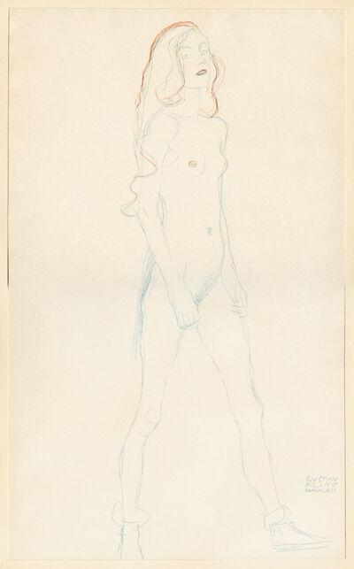 Gustav Klimt, 'Standing Nude [Fünfundzwanzig Handzeichnungen]', 1919