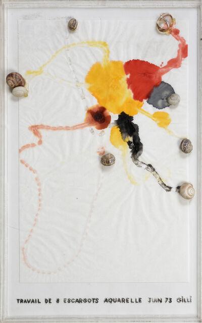 Claude Gilli, 'Travail De 8 Escargots', 1973