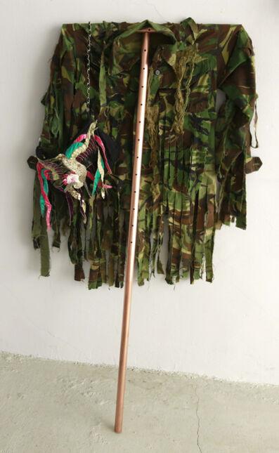 Sarkis, '2015.03. Sculpture de cuivre avec veste militaire et sac Tsumori Chisato', 2015