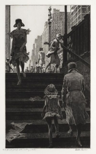 Martin Lewis, 'Subway Steps.', 1930