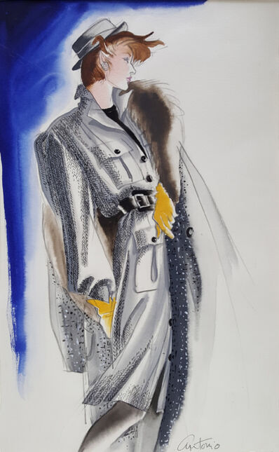 Antonio Lopez, 'Vogue Magazine, Elegant Fashion Illustration for Adel Simpson ', 1984