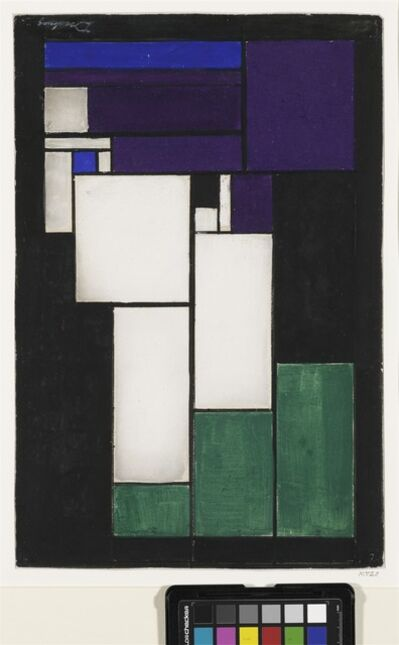 Theo Van Doesburg, 'Woman's Head, Design for a Leaded-Glass Window.', ca. 1917