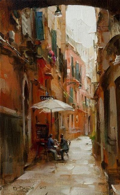 Dmitri Danish, 'Little Cafe in the Alley', 2017
